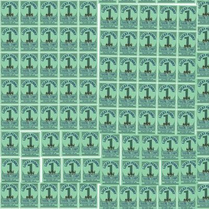 Trading Stamps* (Green Disaster) || text typography numbers ephemera market supermarket grocery store money