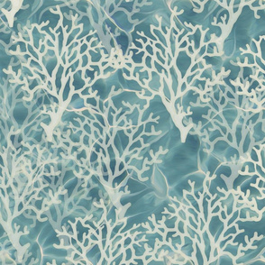 Coral on Caribbean Bllue