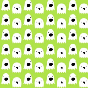 ghosts on lime green » halloween