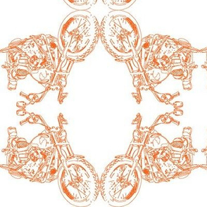 Damask - Moto Damask in Orange