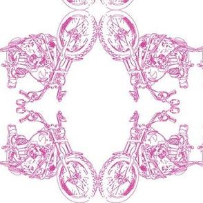 Damask - Moto Damask in Pink