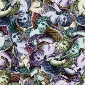 Renaissance Cherub Toss in Jewel Tones