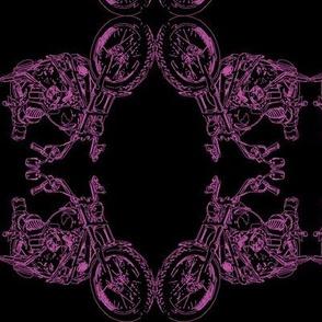 Damask - Moto Damask in Purple on Black
