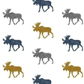 multi moose (small scale) || navy grey gold