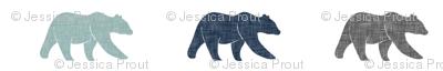 multi bear fabric || navy, dusty blue, grey