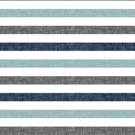 stripes || navy grey dusty blue fabric by littlearrowdesign on Spoonflower - custom fabric