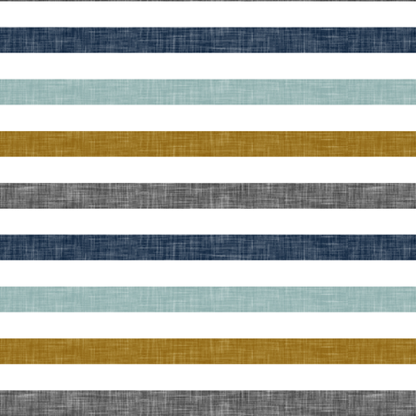 multi stripes || with gold fabric by littlearrowdesign on Spoonflower - custom fabric