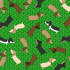 Dancing Dachshunds (Green)