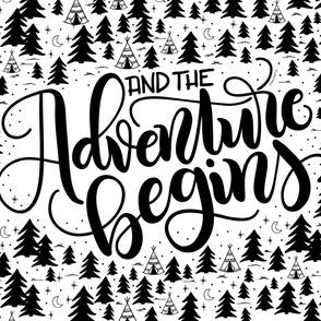 "And the adventure begins - 36x42""  horizontal artwork"