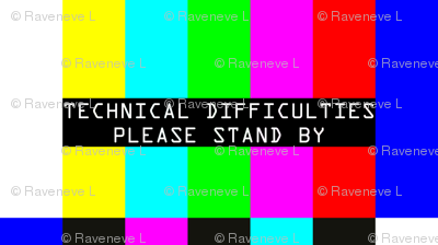 television tv test bars broadcasting smpte pal video signals colorful rainbow stripes bars multi colors retro pop art transmission transmit analogue patterns technical difficulties please stand by