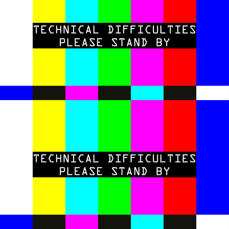 television tv test bars broadcasting smpte pal video signals colorful rainbow stripes bars multi colors retro pop art transmission transmit analogue patterns technical difficulties please stand by fabric by raveneve on Spoonflower - custom fabric