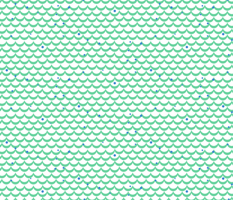 Green fish scale fabric yopixart spoonflower for Fish scale fabric