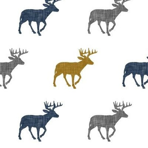 multi buck || navy, grey, and gold