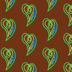 Love on the Wing on Chocolate Fudge - Medium Scale