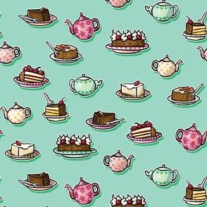 Tea & Cakes Turquoise