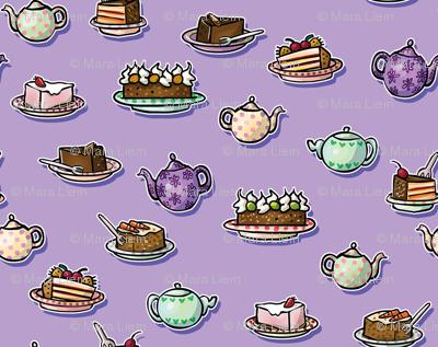 Tea & Cakes Purple