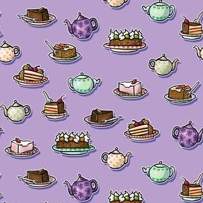 Tea & Cakes Purple