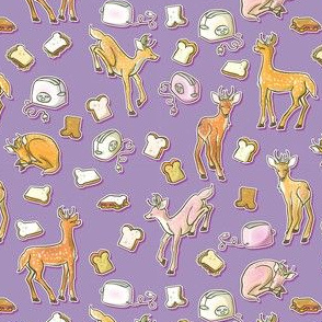 Deer & Toast Purple