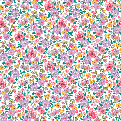 Ditsy Flowers Floral Fall Pink Purple Tiny Small