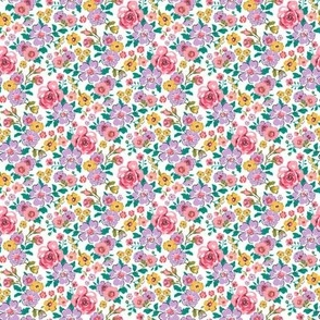 Small Flowers Fabric Wallpaper Gift Wrap Spoonflower
