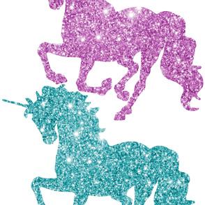 Glitter Unicorn Wall Sticker