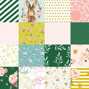 Some Bunny Loves Me  - Whole Cloth / Cheater Quilt