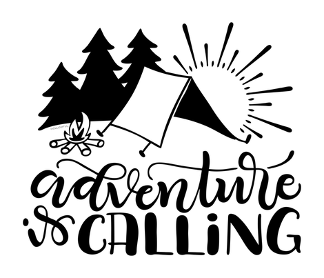 "Adventure is calling - 36x42""  horizontal artwork  fabric by howjoyful on Spoonflower - custom fabric"