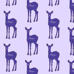 Wordy Deer Purple