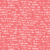 pink + coral corn silhouette - abstract dots