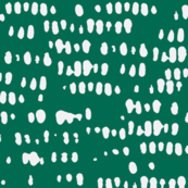 green + white corn silhouette - abstract dots