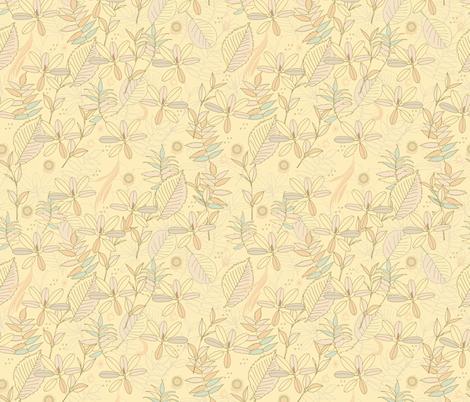 Leaf dance pattern fabric by camcreative on Spoonflower - custom fabric