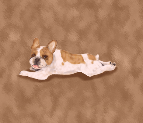 Paint me Like a French Bulldog for Pillow fabric by eclectic_house on Spoonflower - custom fabric