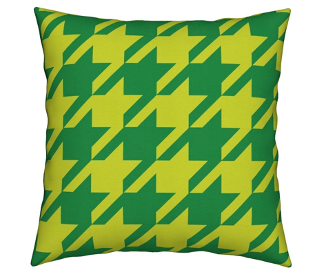 Houndstooth Lemon Yellow Lime Chartreuse Spring Green Large_Miss Chiff Designs