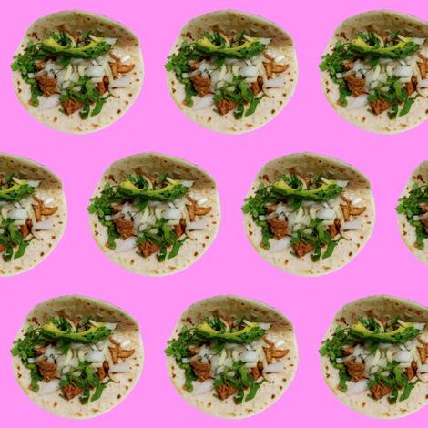La Macro HTX Tacos 2d fabric by yetorres on Spoonflower - custom fabric