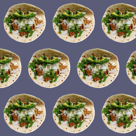 La Macro HTX Tacos 2e fabric by yetorres on Spoonflower - custom fabric