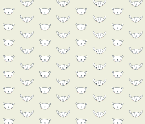 fox and bear buff fabric by shindigdesignstudio on Spoonflower - custom fabric