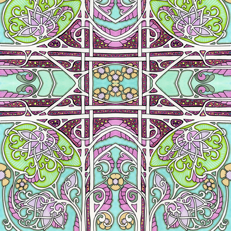 Buds, Tendrils, and the Paisley Flower fabric by edsel2084 on Spoonflower - custom fabric