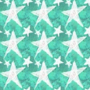 Project 85 | White Chalk Stars on Green