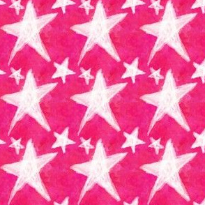 Project 85 | Chalk Stars on Hot Pink