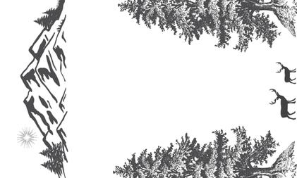 Monochrome Woodland Wreath Swaddle fabric by hudsondesigncompany on Spoonflower - custom fabric