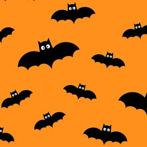 bats on orange » halloween