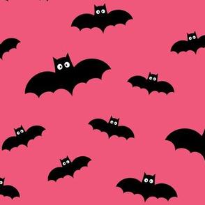 bats on hot pink » halloween