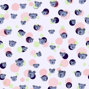 Koala Heads and Dots