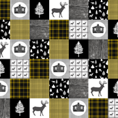 Cozy Cabin Cheater Quilt