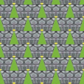 Geometric Christmas Tree on Grey