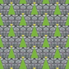 Geometric Christmas Tree on Grey