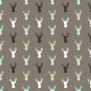 Deer- halfscale- taupe,tan,mint