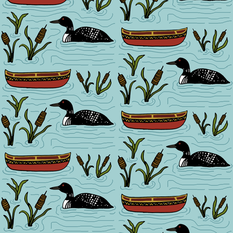 At the Lake fabric by kelly_korver on Spoonflower - custom fabric