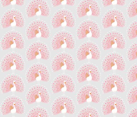pink peacock fabric by mrshervi on Spoonflower - custom fabric