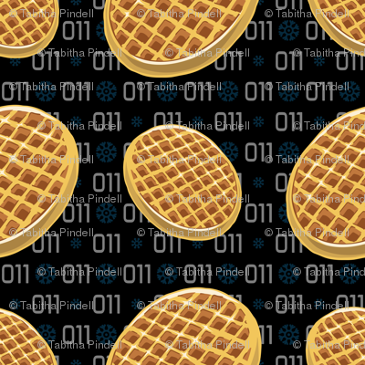 Waffles Fabric Tabpin Spoonflower